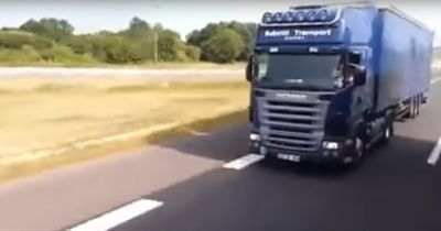 Krankes Rennen! Lkw überholt Lkw mit 140 km/h
