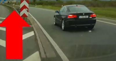 Wenn man seinen persönlichen Hass auf der Autobahn auslässt...