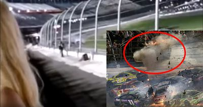 Aus 1. Reihe gefilmt: Nascar crasht bei 320 km/h