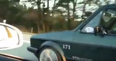 Getunter Golf 1 zerreißt Audi R8