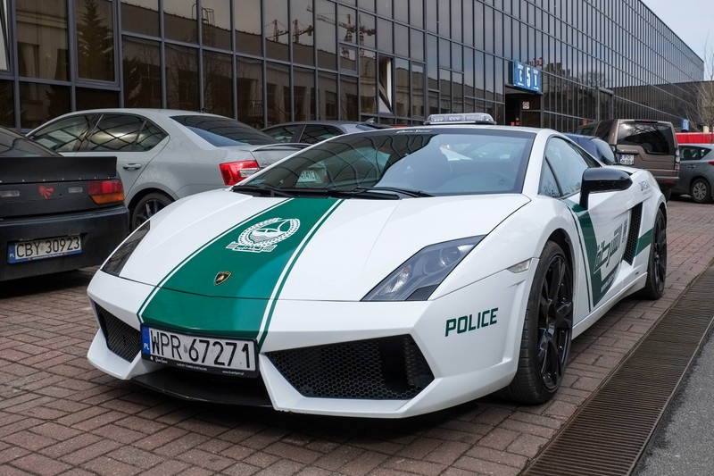 Die Polizei in Dubai ist mit Ferraris und Lamborghinis ausgestattet.