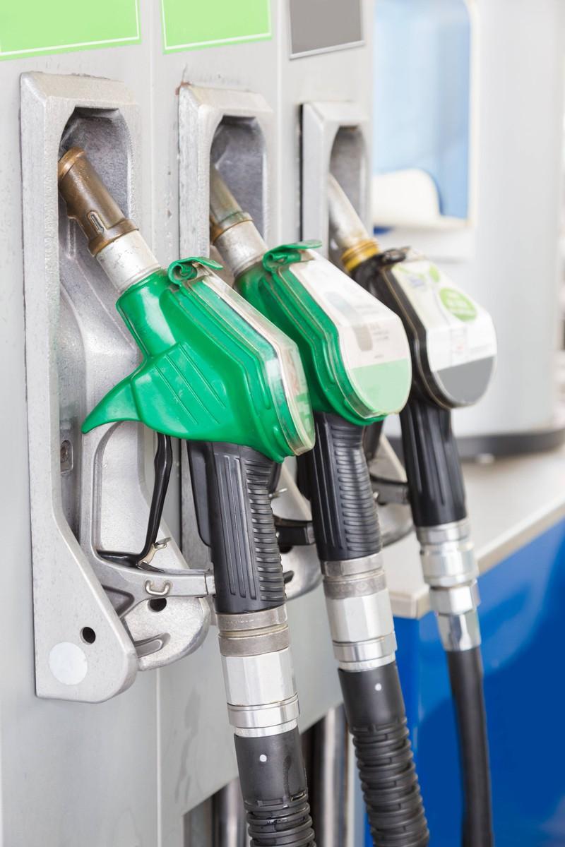 Zapfhahn für Diesel an einer Tankstelle