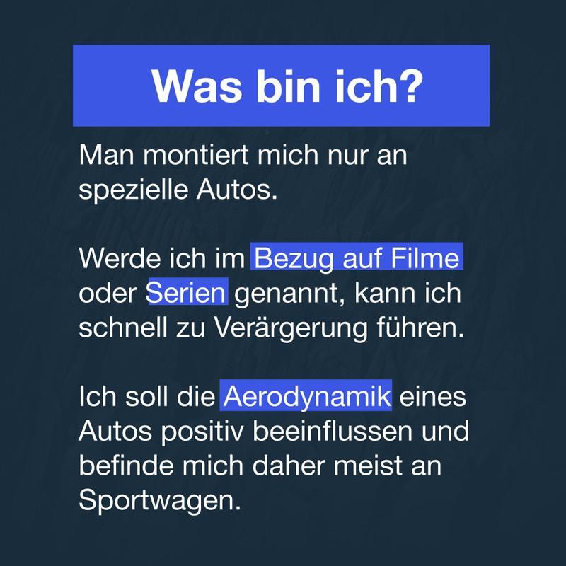 Das ist die erste Frage unseres Was bin ich Quiz: Wir suchen Autoteile